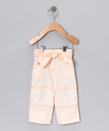Peach Tie Pants - Infant & Girls