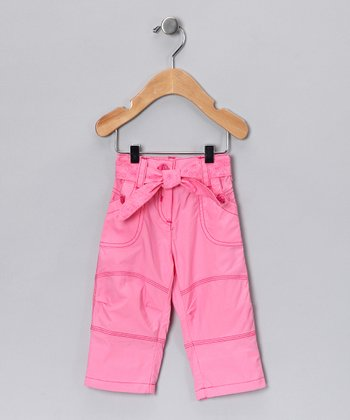 Dark Pink Tie Pants - Infant