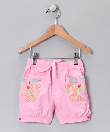 Pink Patchwork Shorts - Toddler & Girls