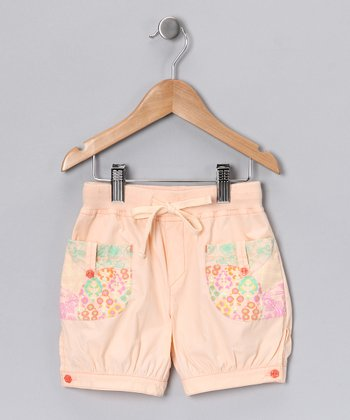 Peach Patchwork Shorts - Infant, Toddler & Girls