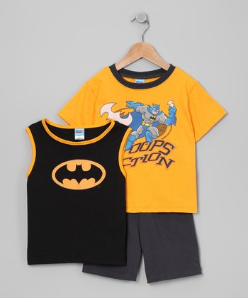 Black Batman Tank Set - Infant, Toddler & Boys