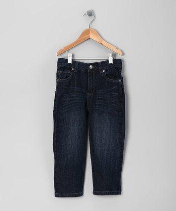 Dark Blue Straight-Leg Jeans - Toddler