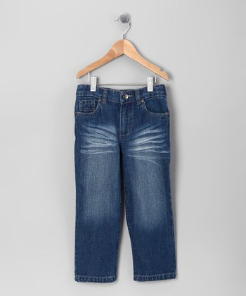 Blue Fade Straight-Leg Jeans - Toddler