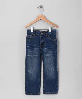 Blue Vintage Wash Straight-Leg Jeans - Toddler