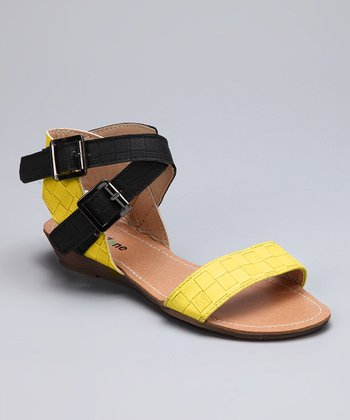 Yellow Double-Buckle Sandal