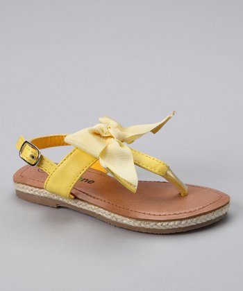 Yellow Ribbon Sandal