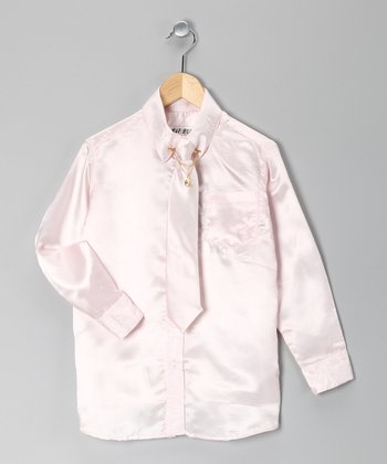 Pink Button-Up Set - Boys