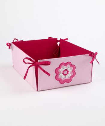 Pink Flower Large Storage Bin