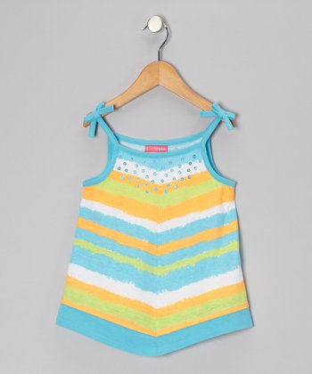 Blue Stripe Handkerchief Tank - Toddler & Girls