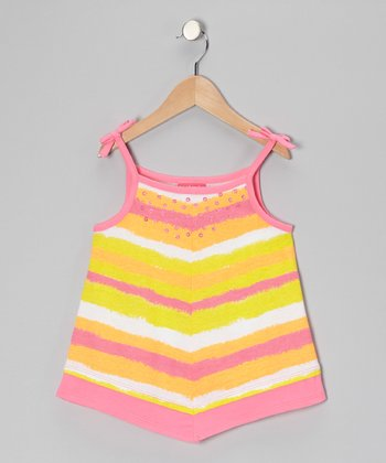 Pink Stripe Handkerchief Tank - Toddler & Girls