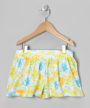 Blue Floral Shorts - Toddler & Girls