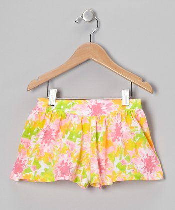 Pink Floral Shorts - Toddler & Girls
