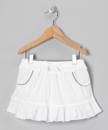 White Ruffle Skirt - Toddler & Girls