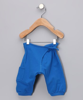 Blue Wrap Sweatpants - Infant