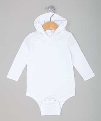 White Hooded Bodysuit
