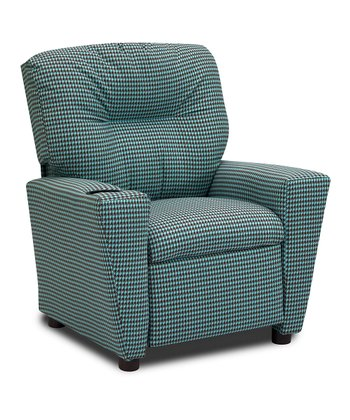 French Blue Houndstooth Recliner