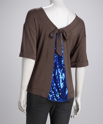 Falcon & Blue Shimmer-Back Top