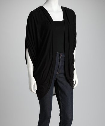 Black Open Cardigan