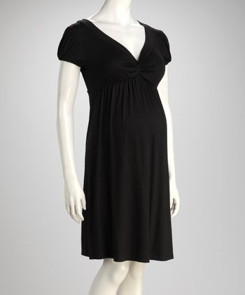 Black Knot Maternity Dress