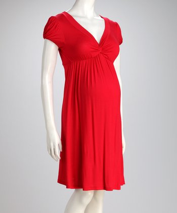 Red Knot Maternity Dress