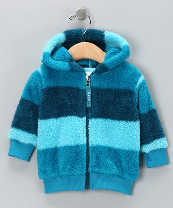 Blue Stripe Fleece Hoodie - Infant & Toddler