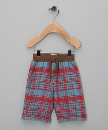 Red & Blue Plaid Organic Pants - Infant & Toddler
