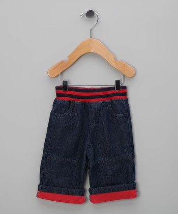 Red Dark Rinse Organic Jeans - Infant
