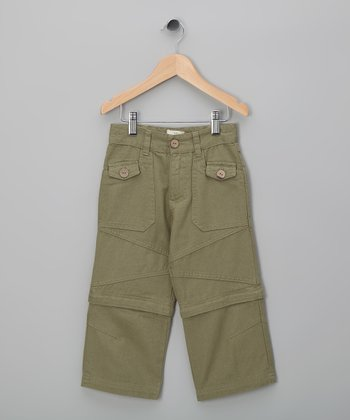 Deep Sage Organic Convertible Pants - Toddler & Boys