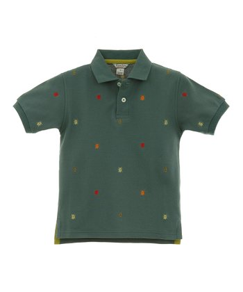 Blue Tree Bug Embroidered Polo - Infant