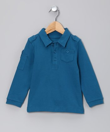Williamsburg Blue Long-Sleeve Polo - Infant, Toddler & Boys