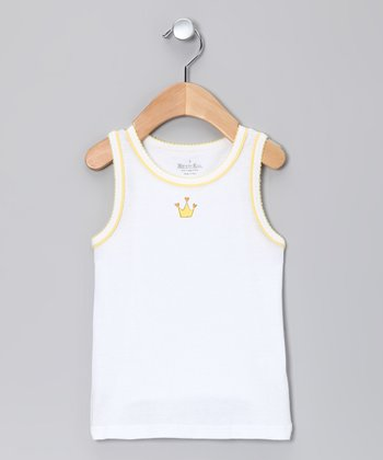 Snow & Gold Crown Tank - Toddler & Girls