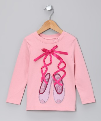 Petal Pink Ballet Slippers Tee - Toddler & Girls