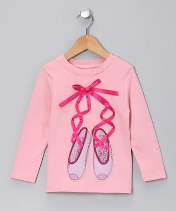 Petal Pink Ballet Slippers Tee - Toddler