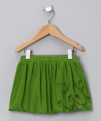 Acid Green Bubble Skirt - Toddler & Girls