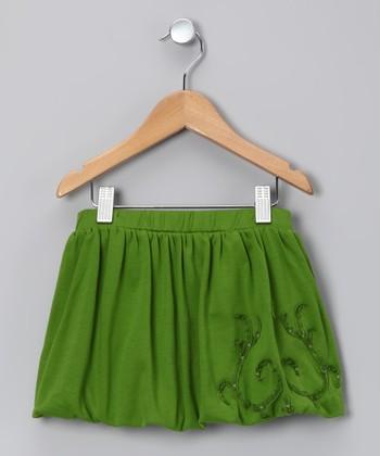 Acid Green Bubble Skirt - Toddler & Girls