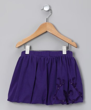 Plum Bubble Skirt - Toddler & Girls