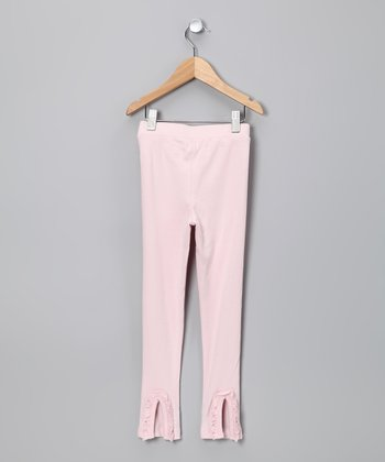 Pink Ruffle Flare Leggings - Toddler & Girls