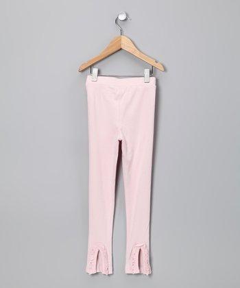 Pink Ruffle Flare Leggings - Toddler & Girls