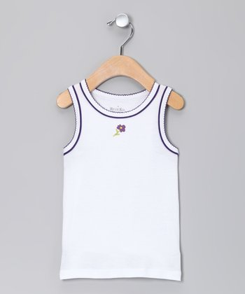 Snow & Plum Flower Tank - Toddler & Girls