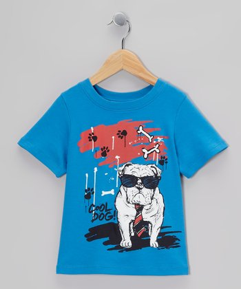 Cobalt 'Cool Dog' Tee - Toddler & Boys