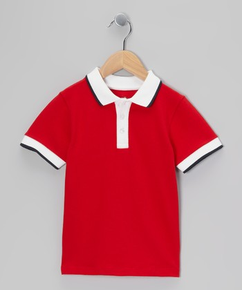 Crimson & White Polo - Toddler & Boys