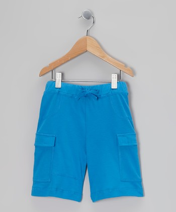 Cobalt Drawstring Cargo Shorts - Toddler & Boys