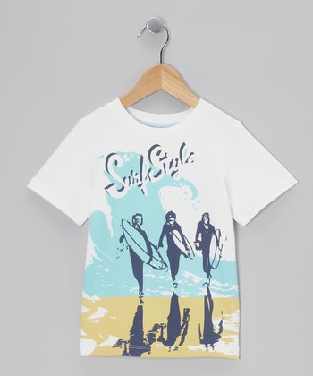 White 'Surf Style' Tee - Toddler & Boys