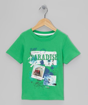 Green 'Paradise' Tee - Toddler & Boys