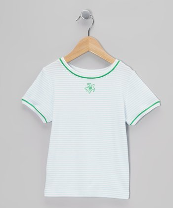 Green Stripe Turtle Tee - Toddler & Boys