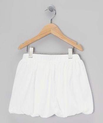 White Bubble Skirt - Toddler & Girls