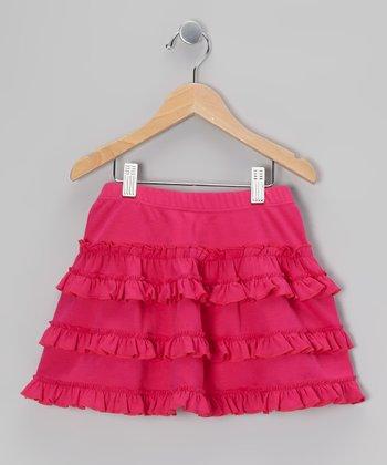 Hot Pink Ruffle Skirt - Toddler & Girls