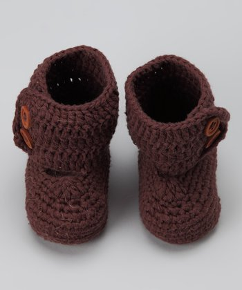 Brown Crocheted Boot