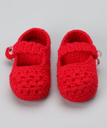 Knitoes & Co. Red Crocheted Mary Jane
