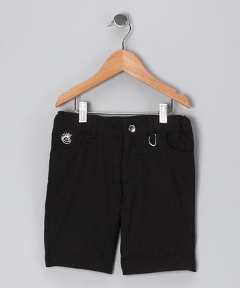 Black Rocker Shorts - Boys